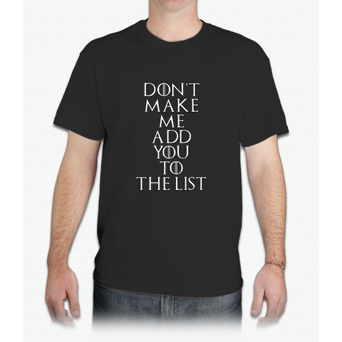 The List - Mens T-Shirt
