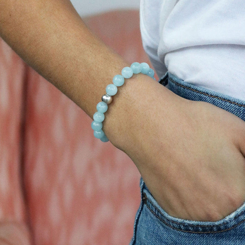 Calmness Bracelet | Howlite and Sterling Silver