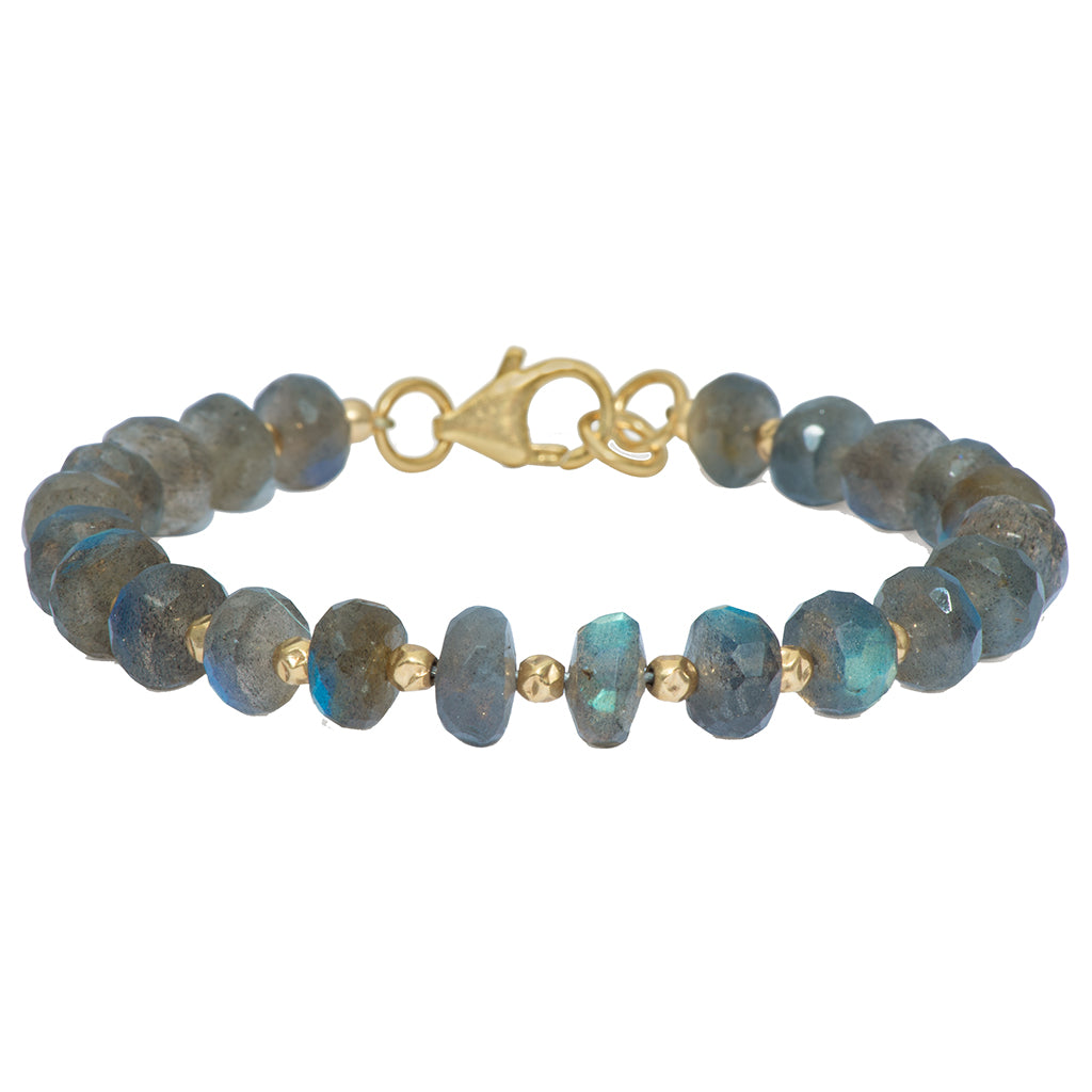Awakening Bracelet | Labradorite and 14K Gold