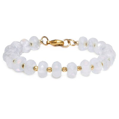 Catching Moonbeams Bracelet | Moonstone and 14K Gold
