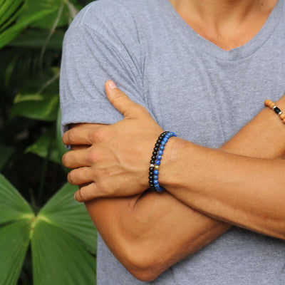 Peace and Protection Bracelet | Lapis Lazuli and 14K Gold