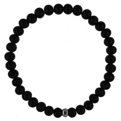 Centered Bracelet | Black Ebony and Sterling Silver