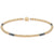 Dainty Clarity Bracelet | 14K Gold and Hematite