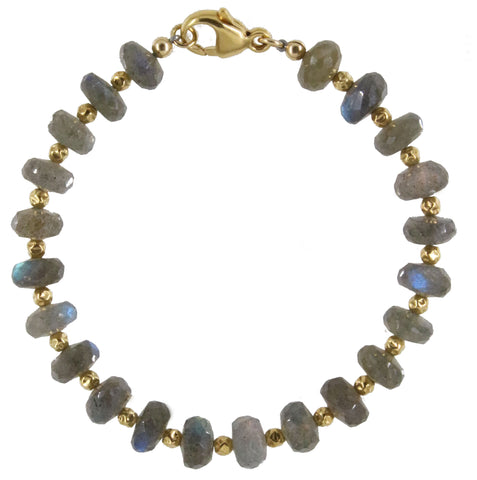 Dainty Balance and Intuition Bracelet | Moonstone and 14K Gold