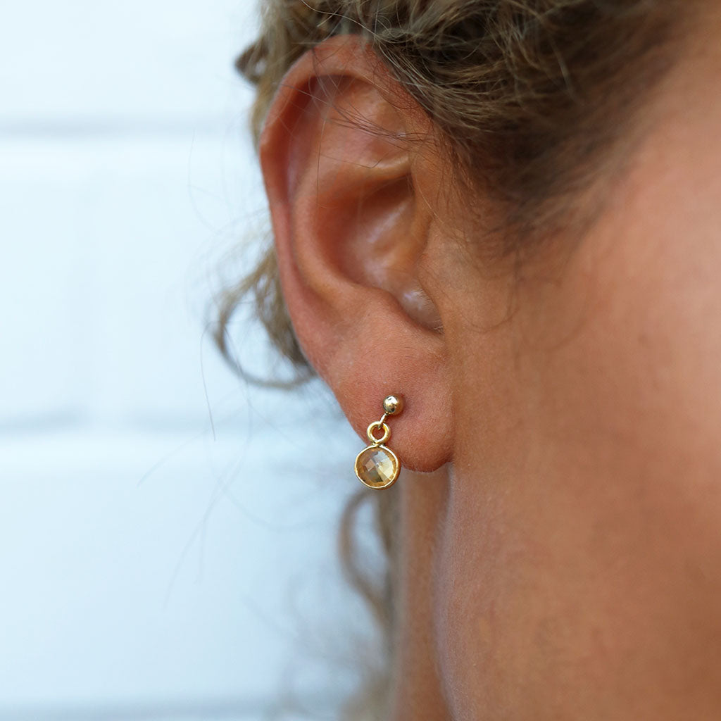 Abundance Earrings | Citrine and Gold