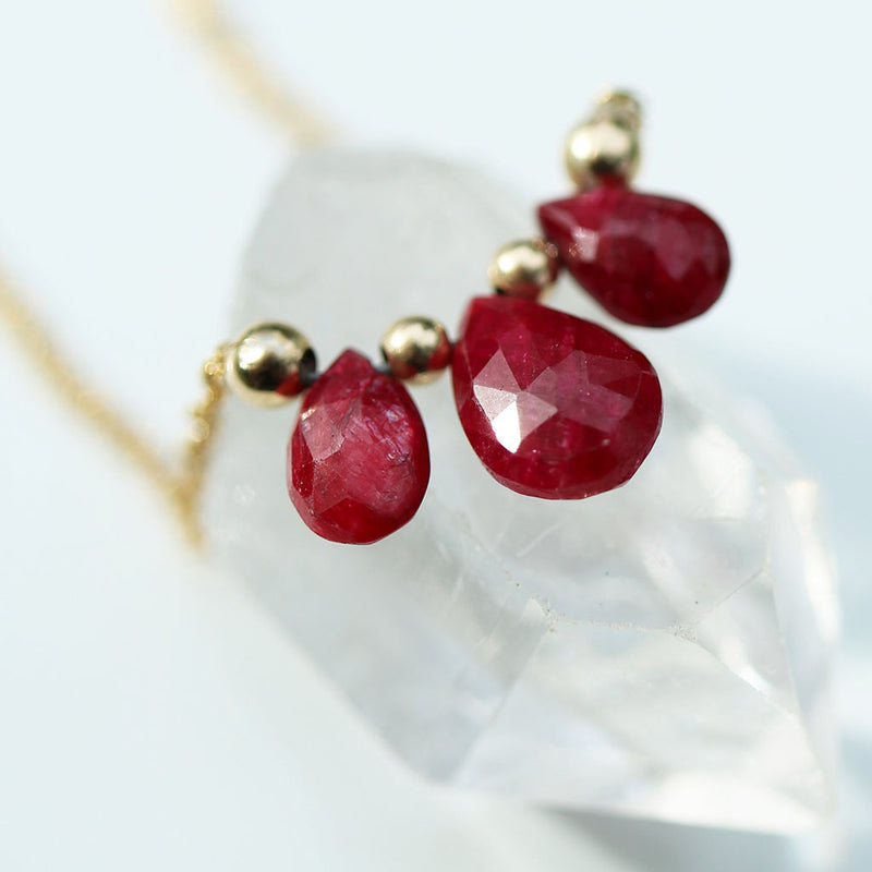 Ignited Necklace | Ruby and 14K Gold