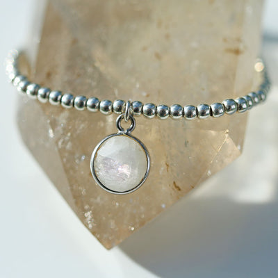 Charmed by Intuition Bracelet | Moonstone and Silver
