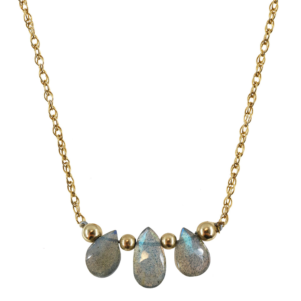 Capture Necklace | Labradorite and 14K Gold