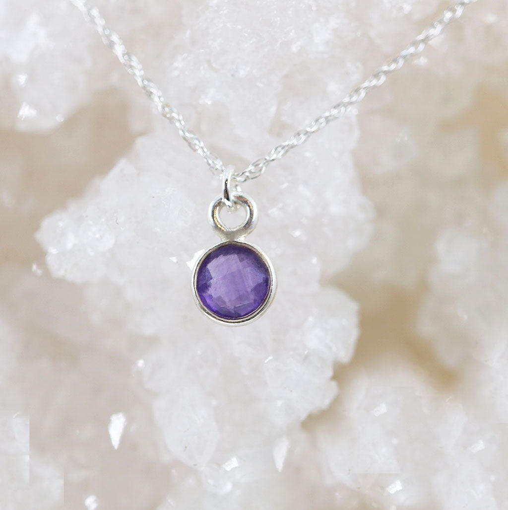 Charmed Dreamer Mini Necklace | Amethyst and Silver