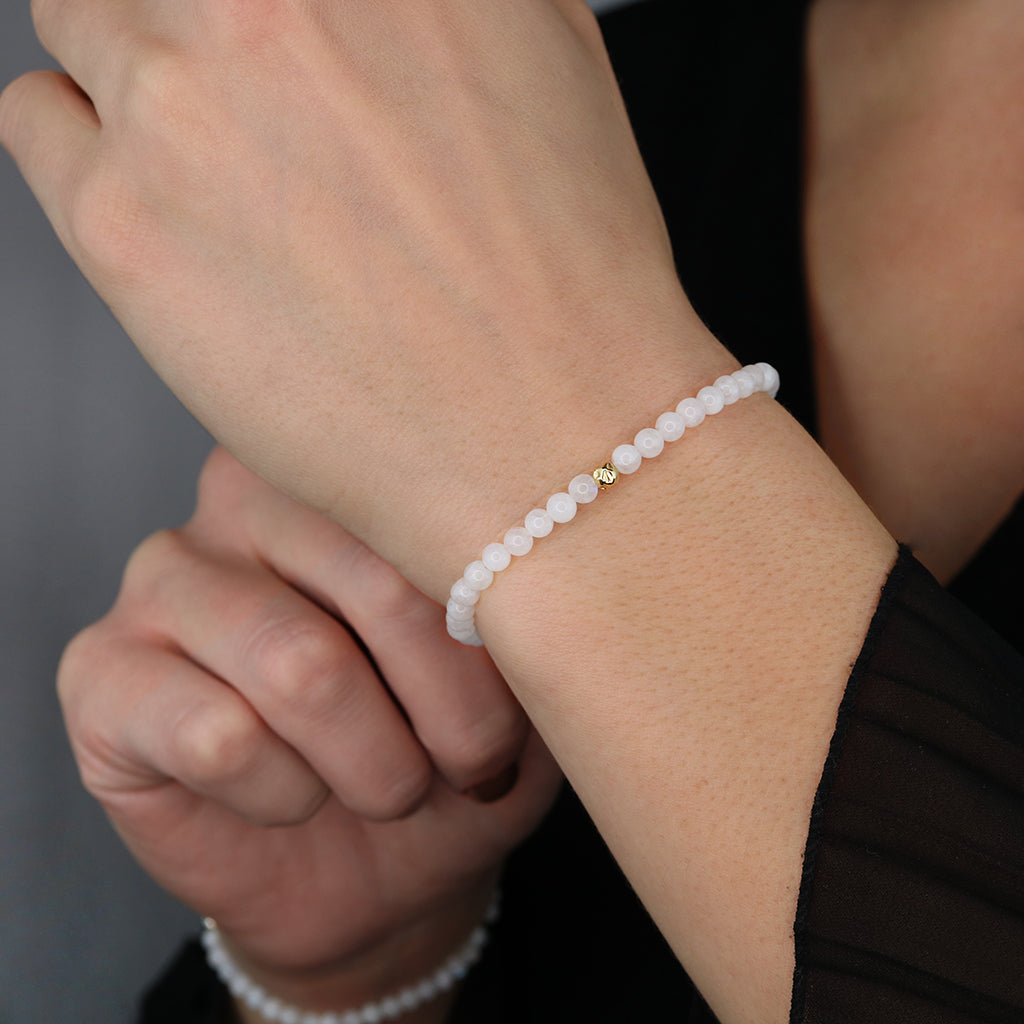 Dainty Balance and Intuition Bracelet | Moonstone