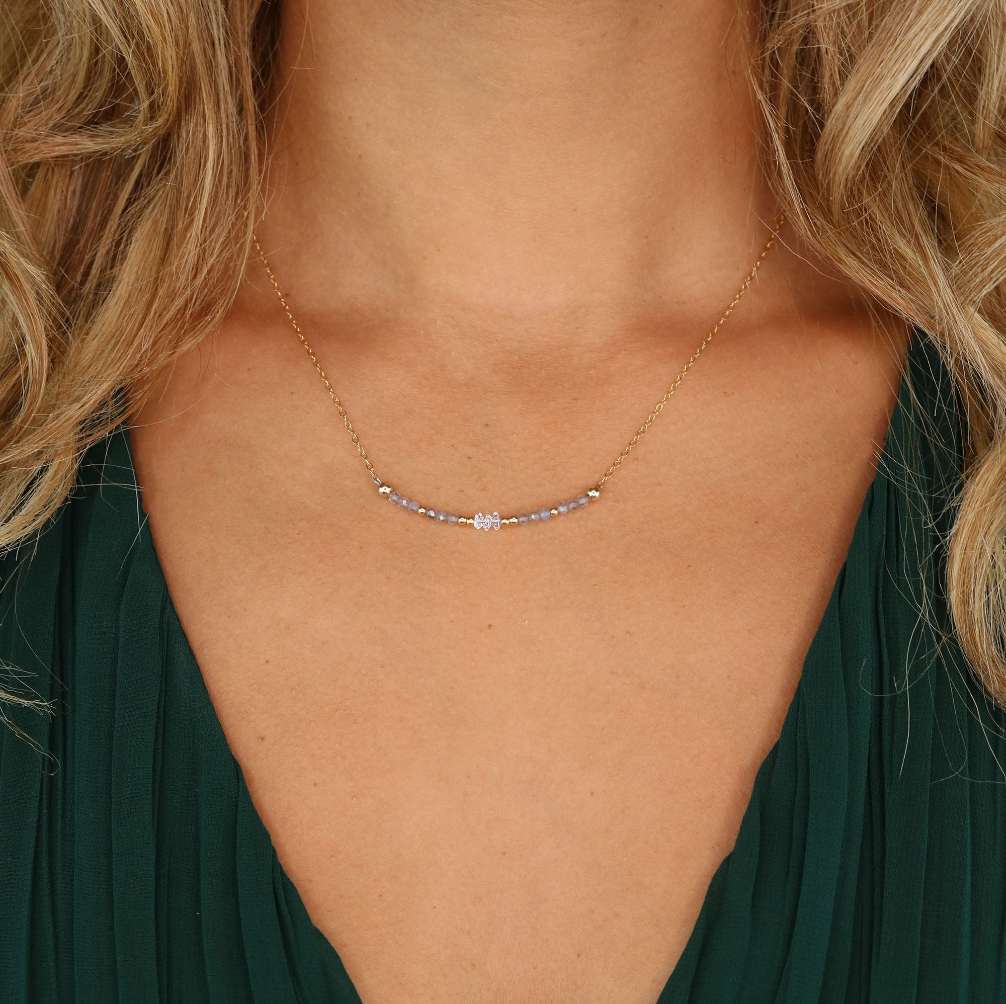 Visionary Necklace | Herkimer Diamond and Labradorite