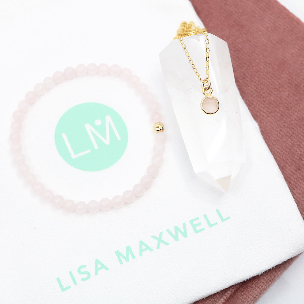 Charmed in Love Gift Set | Rose Quartz