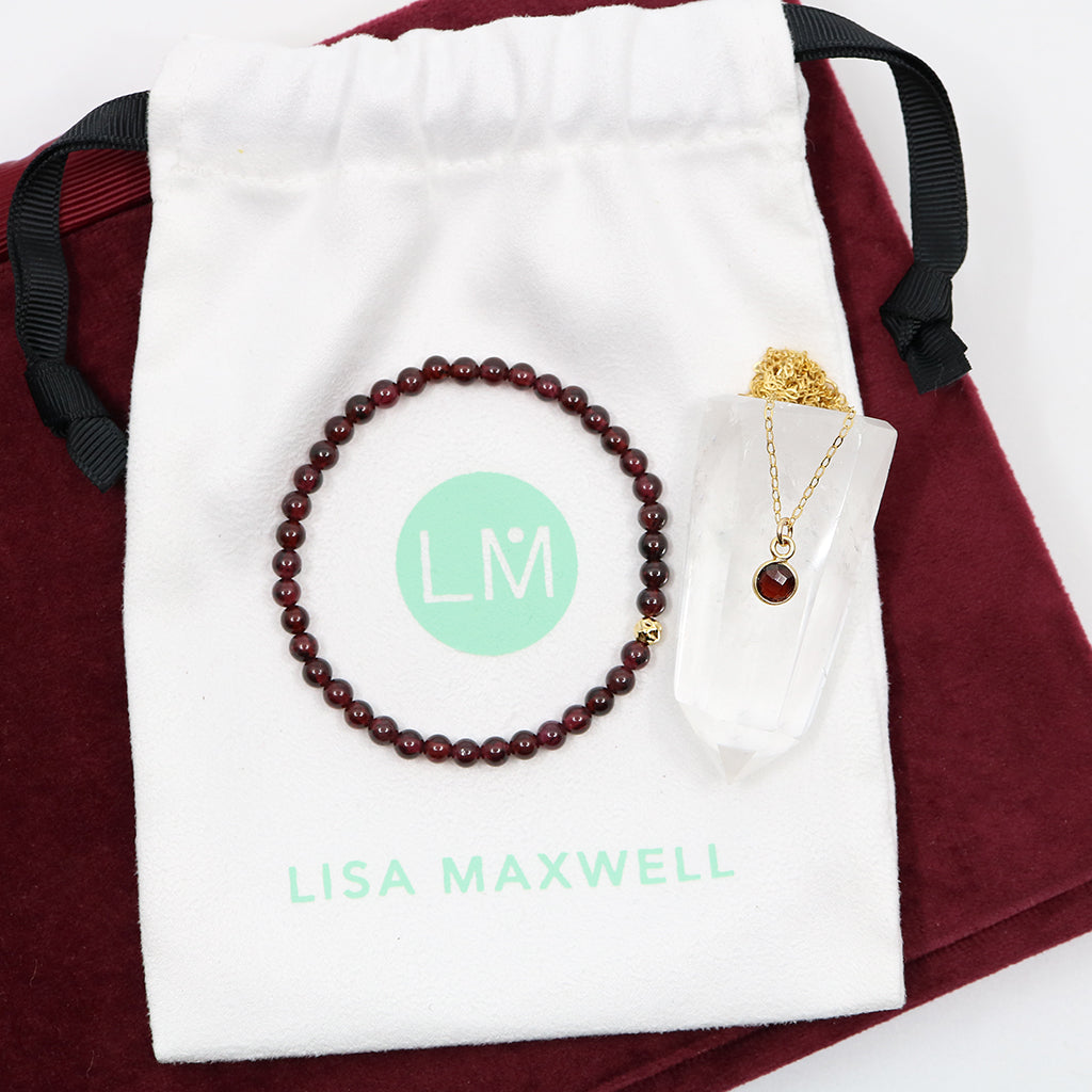 Charmed with Strength Gift Set | Garnet