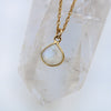 Charmed and Balanced Necklace | Moonstone and Gold