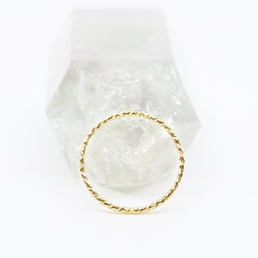 Dainty Gold Rope Ring