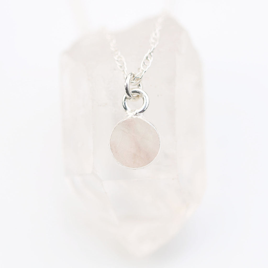 Charmed in Love Mini | Rose Quartz and Silver