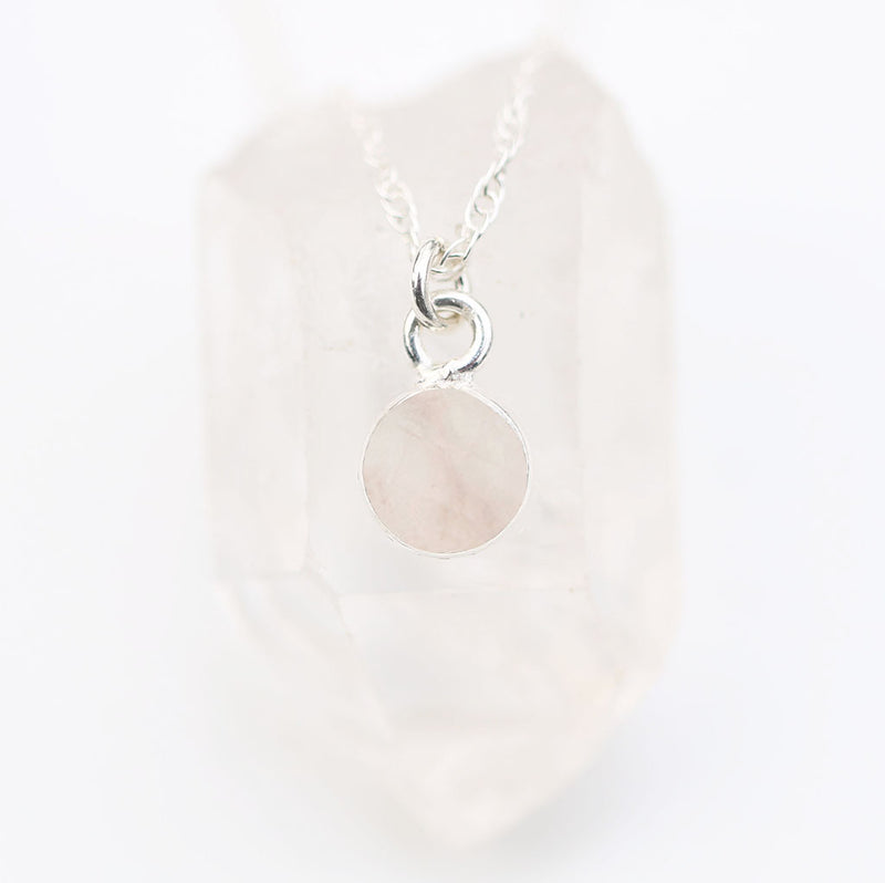Charmed in Love MINI | Rose Quartz and Sterling Silver