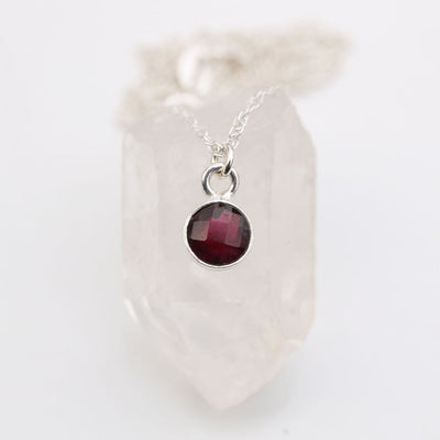 Charmed with Strength MINI | Garnet and Sterling Silver