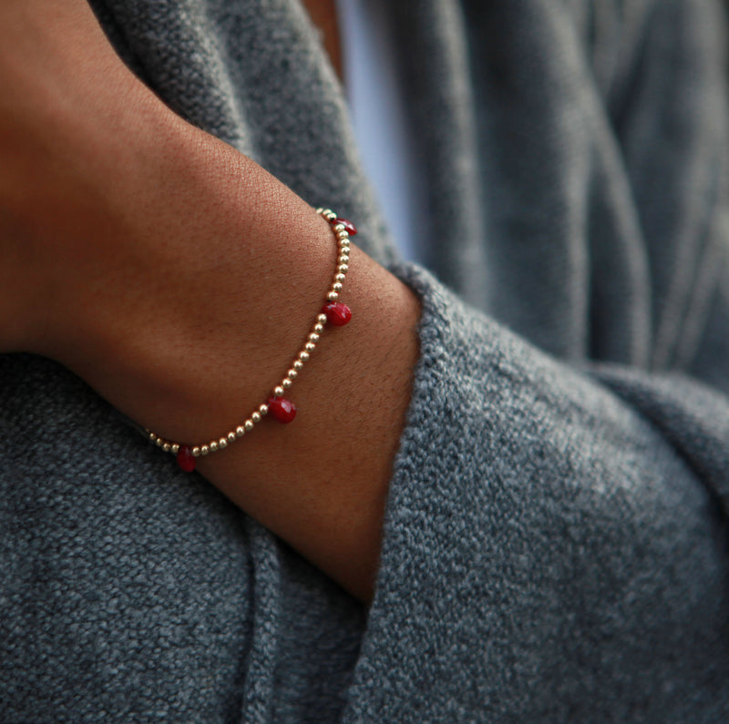 Ignited Bracelet | Ruby and 14K Gold