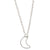 Crescent Moon Necklace | Silver