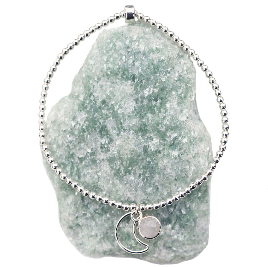 Mini Moonbeam Bracelet | Moonstone and Silver