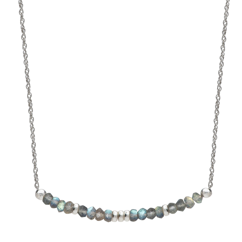 Aligned and Charmed Necklace | Labradorite and Sterling Silver