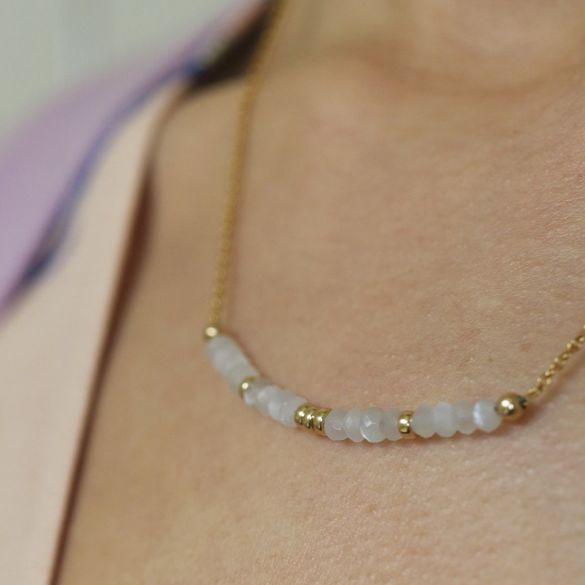 Goddess Necklace | Moonstone and Gold