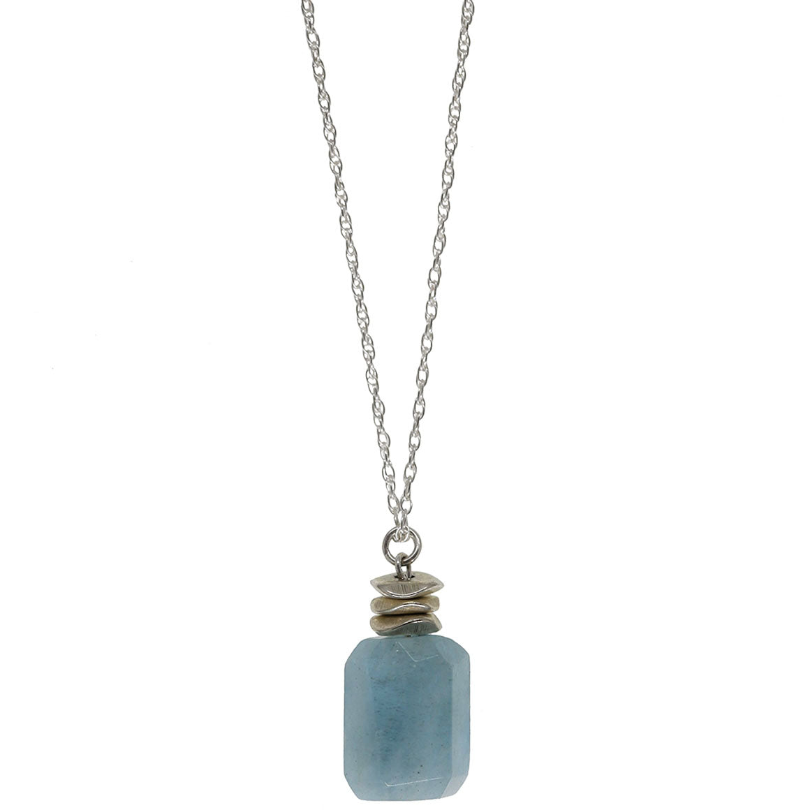 Nautical and Nice Necklace | Aquamarine and Sterling Silver