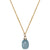 Dainty Still Waters Necklace | Aquamarine and Gold