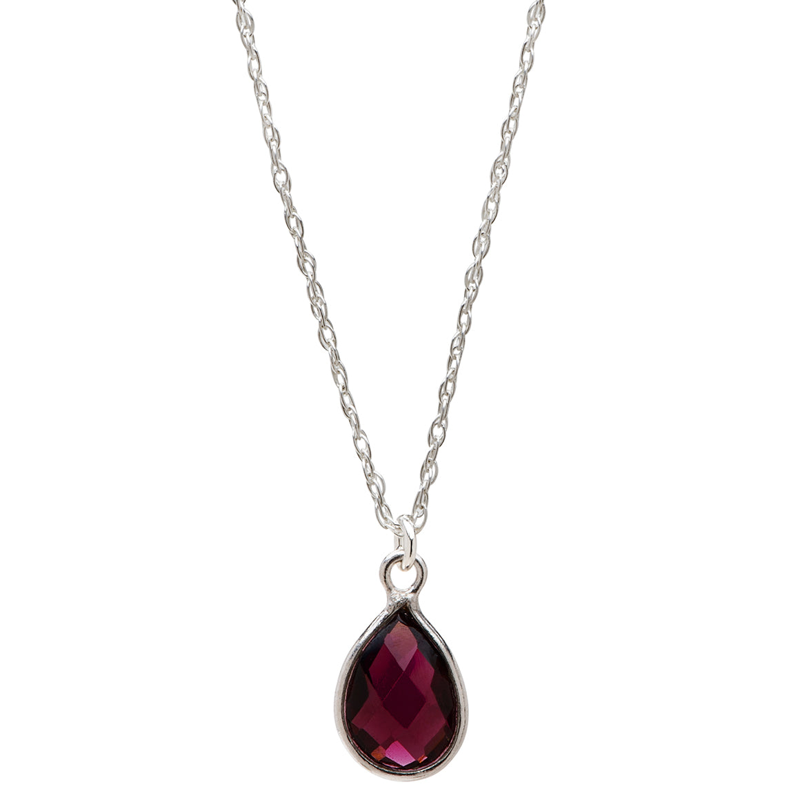 Charmed with Strength Necklace | Garnet and Sterling Silver