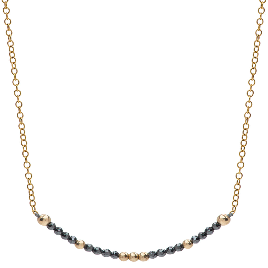 Aligned and Protected Necklace | Hematite and Gold