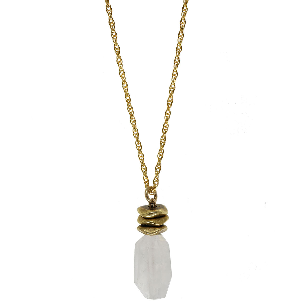 Channeling Intuition Necklace | Moonstone and 14K Gold