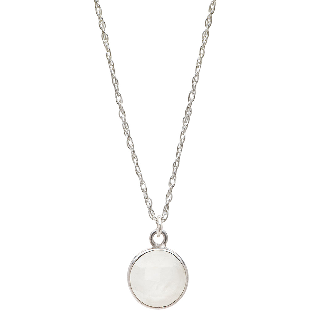 Charmed by Intuition Necklace | Moonstone and Sterling Silver