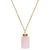 Love Magnet Necklace | Rose Quartz and Gold