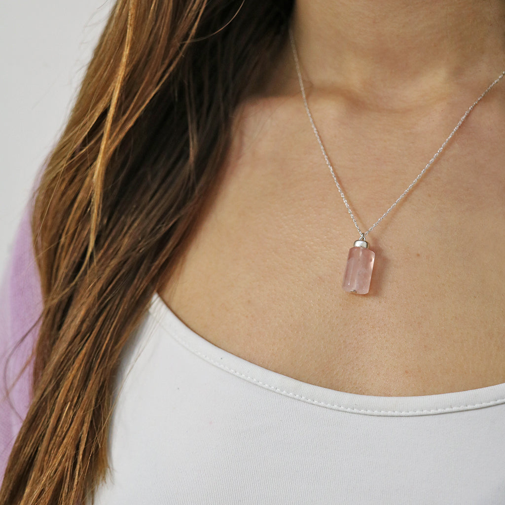 Love Magnet Necklace | Rose Quartz and Silver