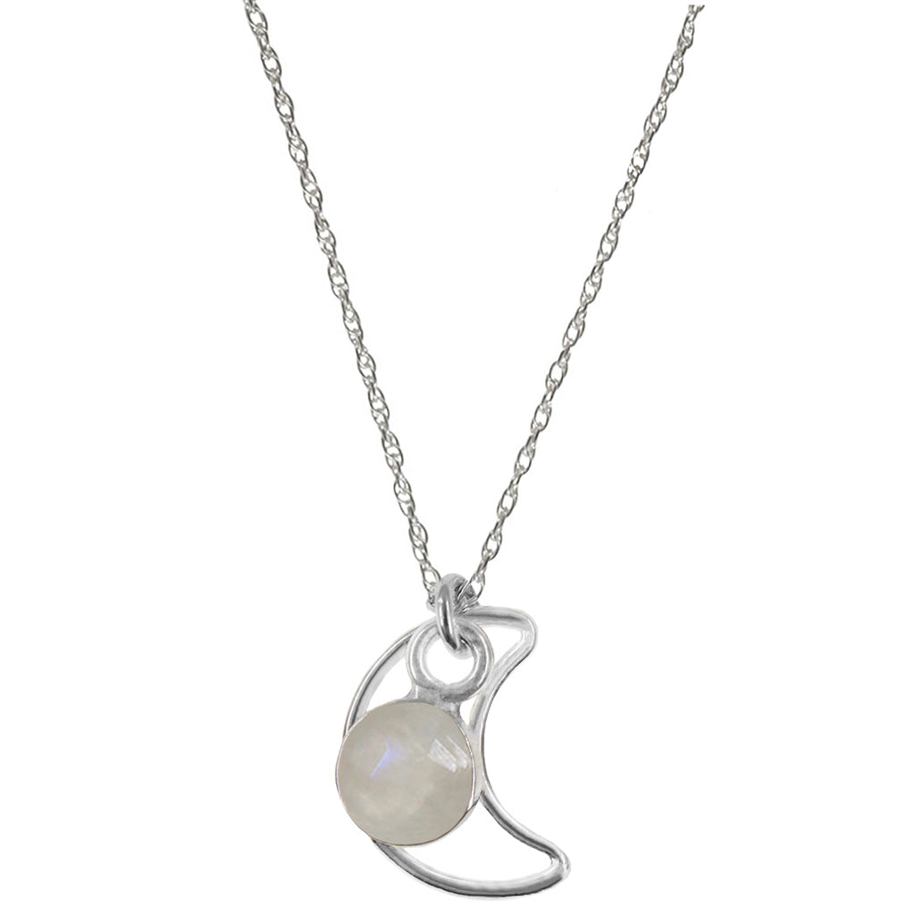 Moonbeam Necklace | Moonstone and Silver