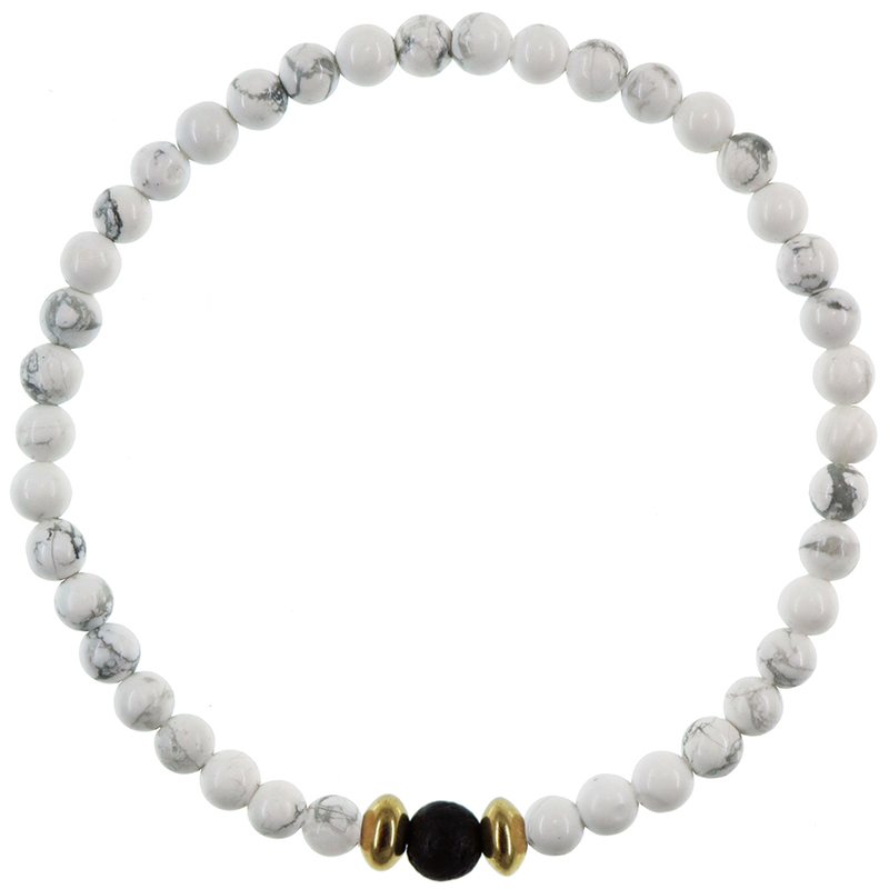 Dainty Sweet Dreams Diffuser Bracelet | Howlite and Gold