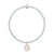 Charmed in Love Bracelet| Rose Quartz and Sterling Silver