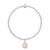 Charmed in Love Drop Bracelet | Rose Quartz and Silver