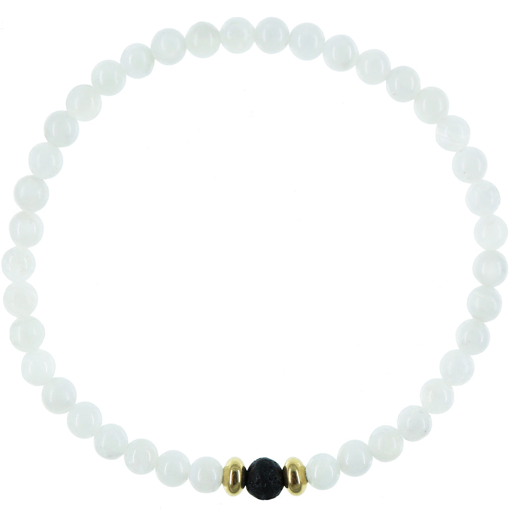 Dainty Divine Diffuser Bracelet | Moonstone and Gold