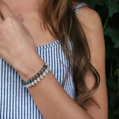 Catching Moonbeams Bracelet | Moonstone and Gold
