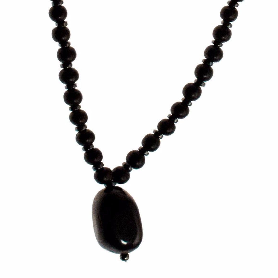 Black Onyx Mala with Black Ebony and Hematite