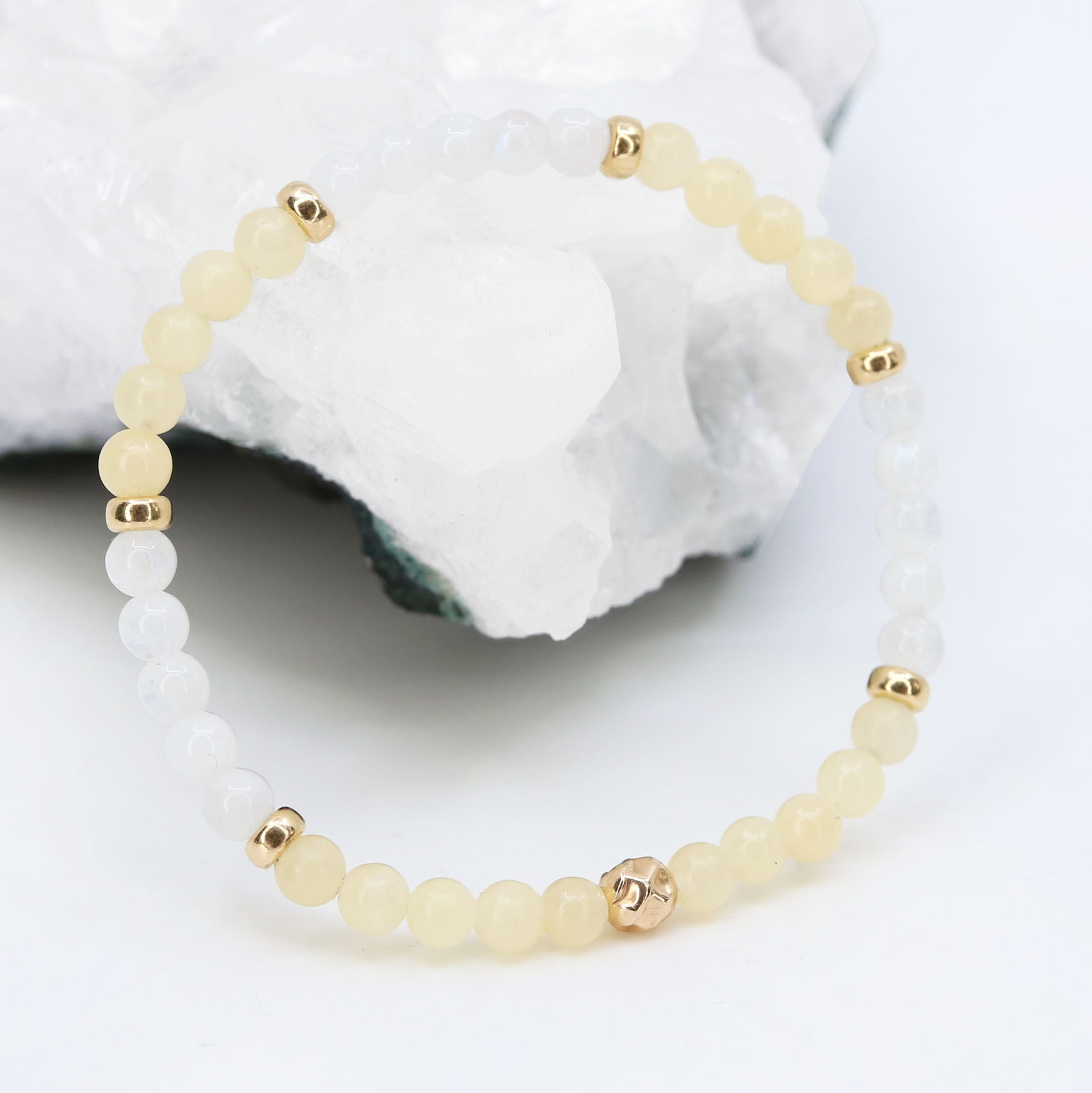 Dainty Fearless Bracelet | Honey Calcite