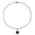 Charmed by Emerald Mini Bracelet | Emerald and Silver