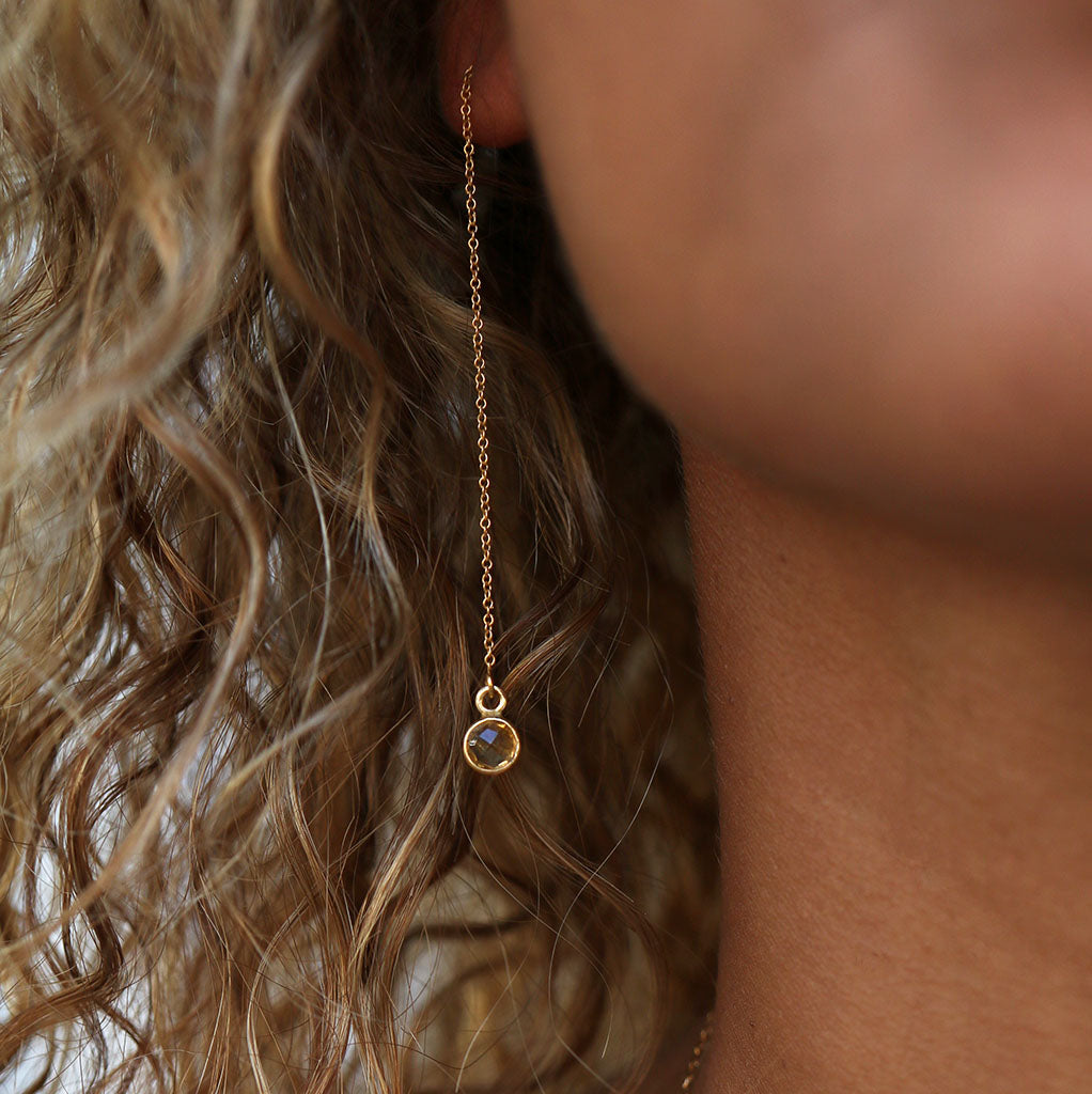 Abundance Drop Earrings | Citrine and Gold