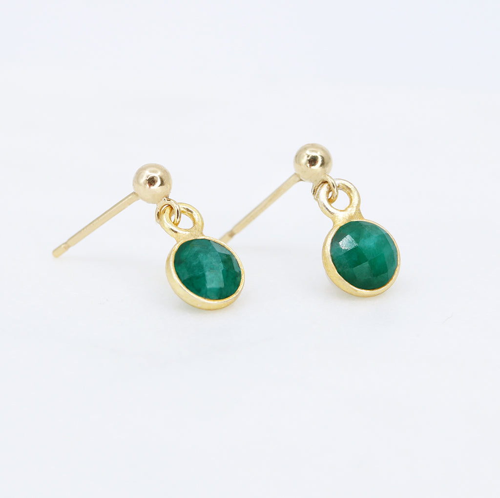 Compassion Earrings | Emerald and Gold