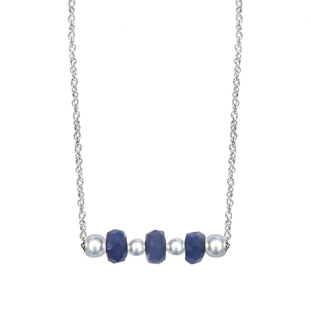 The Ella | Blue Sapphire and Sterling SIlver