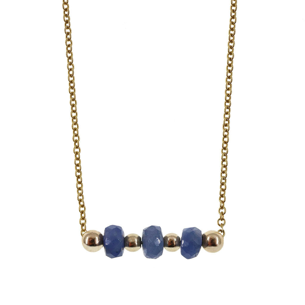The Ella | Blue Sapphire and 14K Gold