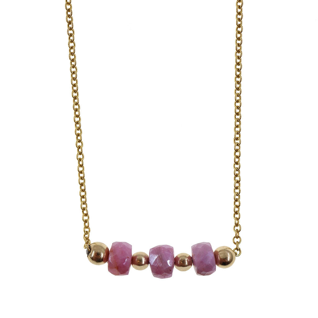 The Catherine | Pink Sapphire and 14K Gold