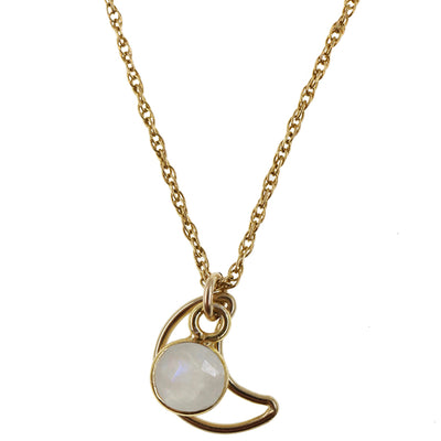 Moonbeam Necklace | Moonstone and Gold